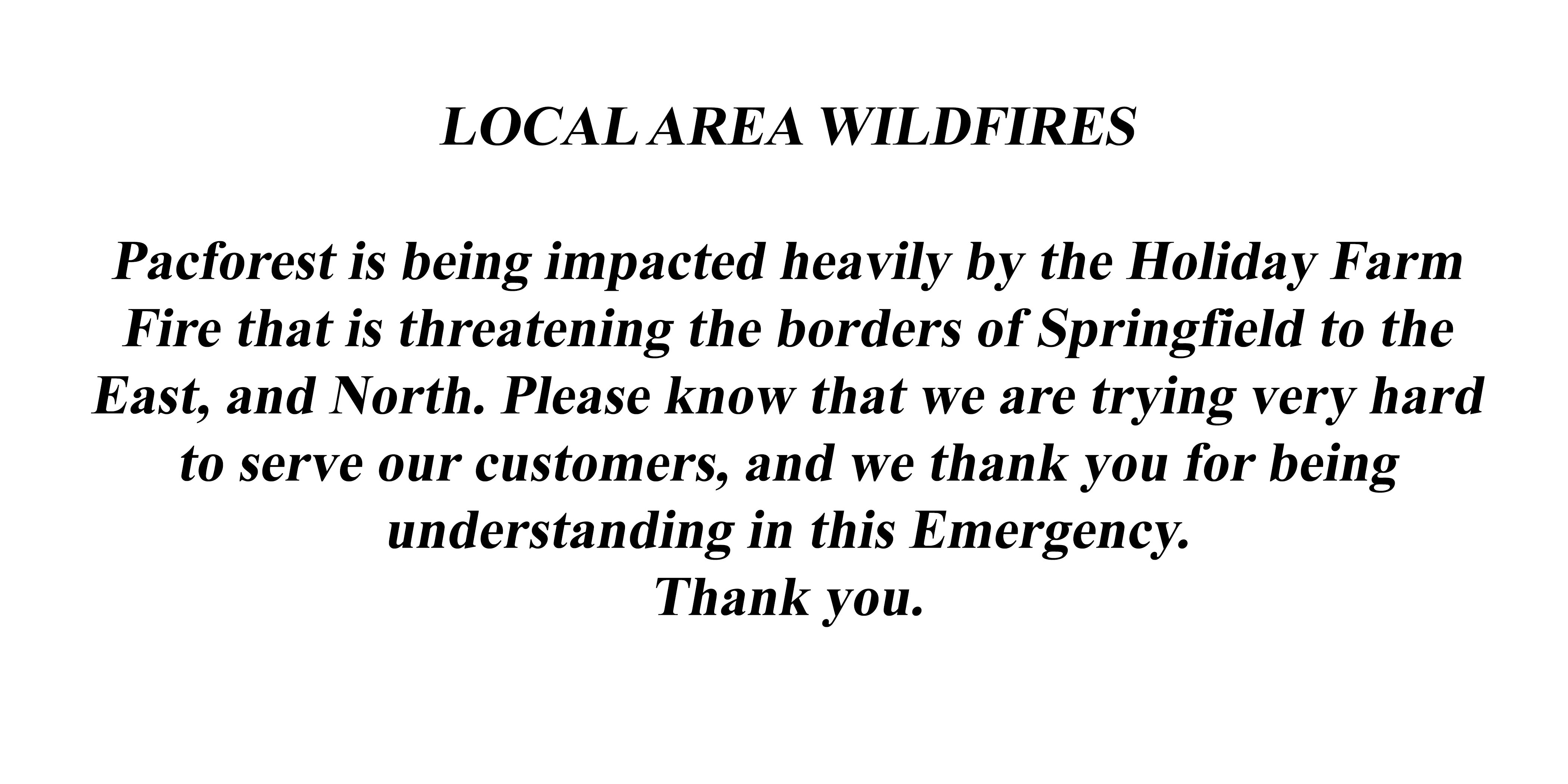 Local Area Wildfires