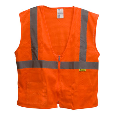 Zippered Safety Vest