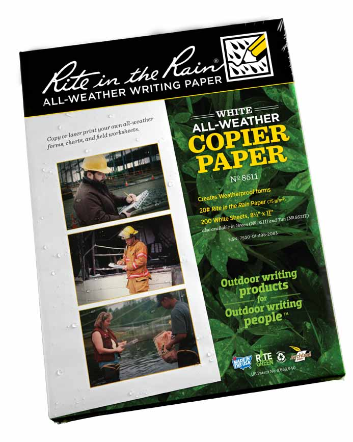 RTR CP208511/200 - Rite in the Rain All-Weather Copy Paper 20 sub bond 200 sheets