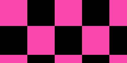 FLG CKPGBK - Pink Glo/Black Checkerboard Flagging