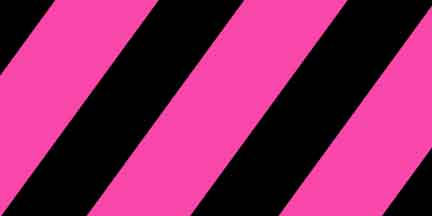 FLG SPGBK - Pink Glo/Black Striped Flagging