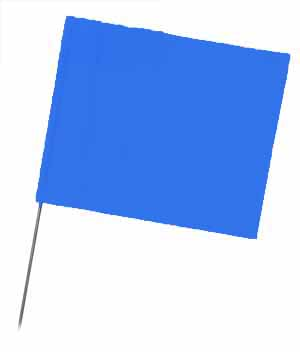 "WIR 4521BG - Blue Glo 21"" Wire Flag Stakes (bundle of 100)"