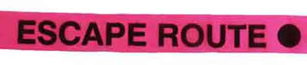 FLG CUPGBK89 - Escape Route - Pink Glo/Black flagging