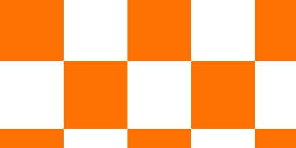 FLG CKWO - Orange/White Checkerboard Flagging