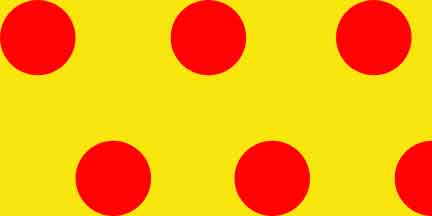 FLG PDYR - Yellow/Red Polka Dot Flagging