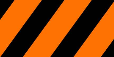 FLG SOGBK - Orange Glo/Black Striped Flagging