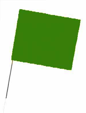 "WIR 4521G - Green 21"" Wire Flag Stakes (bundle of 100)"