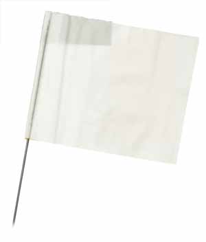 "WIR 2315W - White 15"" Wire Flag Stakes (bundle of 100)"