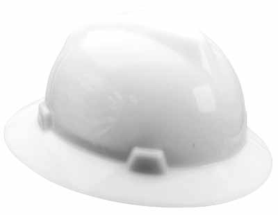 SAF MSA/475369 - Hardhat Full Brim White w/ratchet suspension