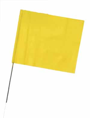 "WIR 4521Y - Yellow 21"" Wire Flag Stakes (bundle of 100)"