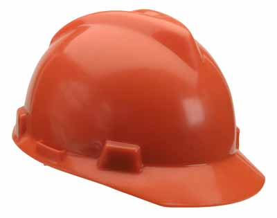 SAF MSA 488148 - Hardcap Hi-Viz Orange w/standard suspension