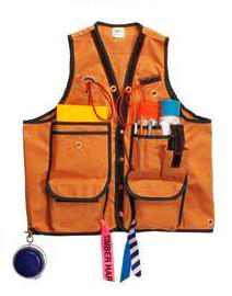FOR CV15/OR-L - 03)  Pacforest 15 Pocket Cruiser Vest Cordura - Orange - large